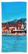 Schuylkill Navy Boat House Row Beach Towel