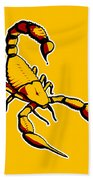 Scorpion Graphic  Beach Towel by Pixel Chimp
