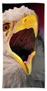 Screaming Eagle I Beach Towel