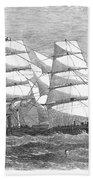 Screw Steamship, 1864 Beach Towel