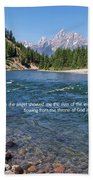 Scripture And Picture Revelation 22 1 Beach Towel