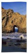 Sea Arch At Pfeiffer Beach Big Sur Beach Towel