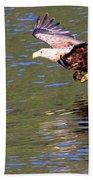 Sea Eagle's Water Landing Beach Towel