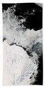 Sea Ice In The Southern Ocean Beach Towel