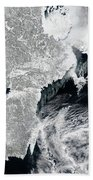 Sea Ice Lines The Coasts Of Sweden Beach Towel