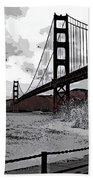 Sea Spray Under The Golden Gate Bridge Beach Towel