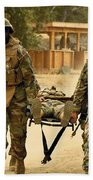 Seabees Conduct A Mass Casualty Drill Beach Towel