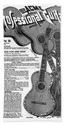 Sears Ad - Guitars 1902 Beach Towel
