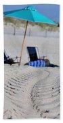 seashore 82 Beach Chairs Beach Umbrella and Tire Treads in Sand Beach Towel