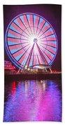 Seattle Great Wheel 2 Beach Towel