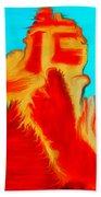 Sedona Hills - Fire At Sunset - Arizona Beach Towel