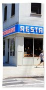 Seinfeld Diner Location Beach Towel
