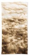 Sepia Clouds  Beach Towel