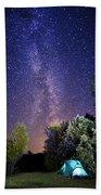 September Night Sky Beach Towel