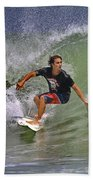 September Ponce Inlet Surfer Beach Towel