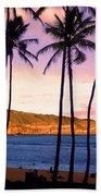 Serene Waimea Bay Beach Towel