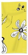 Serenity In Yellow Beach Towel