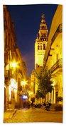 Sevilla At Night Beach Towel