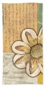 Shabby Chic Floral 2 Beach Sheet