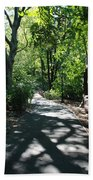 Shaded Paths In Central Park Beach Towel