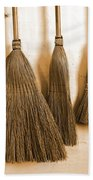 Shaker Brooms On A Wall Beach Towel