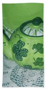 Shamrock Tea Beach Towel