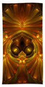 Shattered Five Leaf Clover Abstract Beach Towel