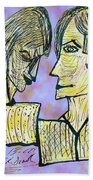 She And He Pen And Ink 2000 Digital Beach Towel