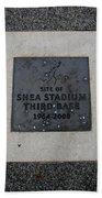 Shea Stadium Third Base Beach Towel
