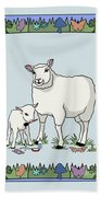 Sheep Artist Sheep Art Beach Towel