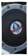 Shelby Cobra Steering Wheel Beach Towel