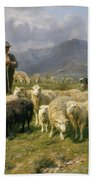 Shepherd Of The Pyrenees Beach Towel