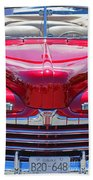 Shiny Red Ford Convertible. Beach Towel