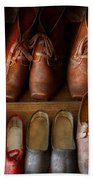 Shoemaker - Shoes Worn In Life Beach Sheet