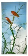 Shoes In The Sky Beach Towel