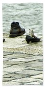 Shoes On The Danube Bank - Budapest Beach Towel