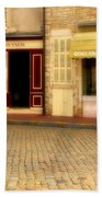 Shops In Beaune France Beach Towel