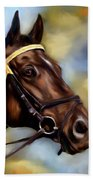 Show Horse Painting Beach Towel