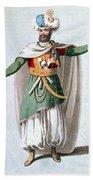 Sidy Hafsan, Bey Of Tripoli, 1816 Beach Towel