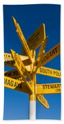 Signpost In Sterling Point Bluff Beach Towel