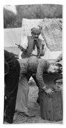 Silent Film Still: Gypsies Beach Towel