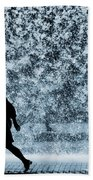 Silhouette Over Water Beach Towel