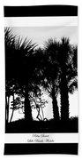 Silhouette Palm Sunset Beach Towel