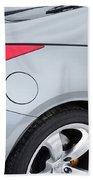 Silver 350z Nissan Beach Towel