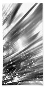 Silver Explosion Beach Towel