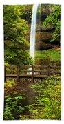 Silver Falls Bridge Beach Towel