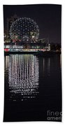 Silver Reflections Beach Towel