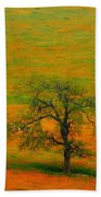 Single Tree Beach Towel
