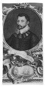 Sir Francis Drake, English Explorer Beach Towel by Photo Researchers, Inc.