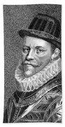 Sir John Hawkins (1532-1595) Beach Towel